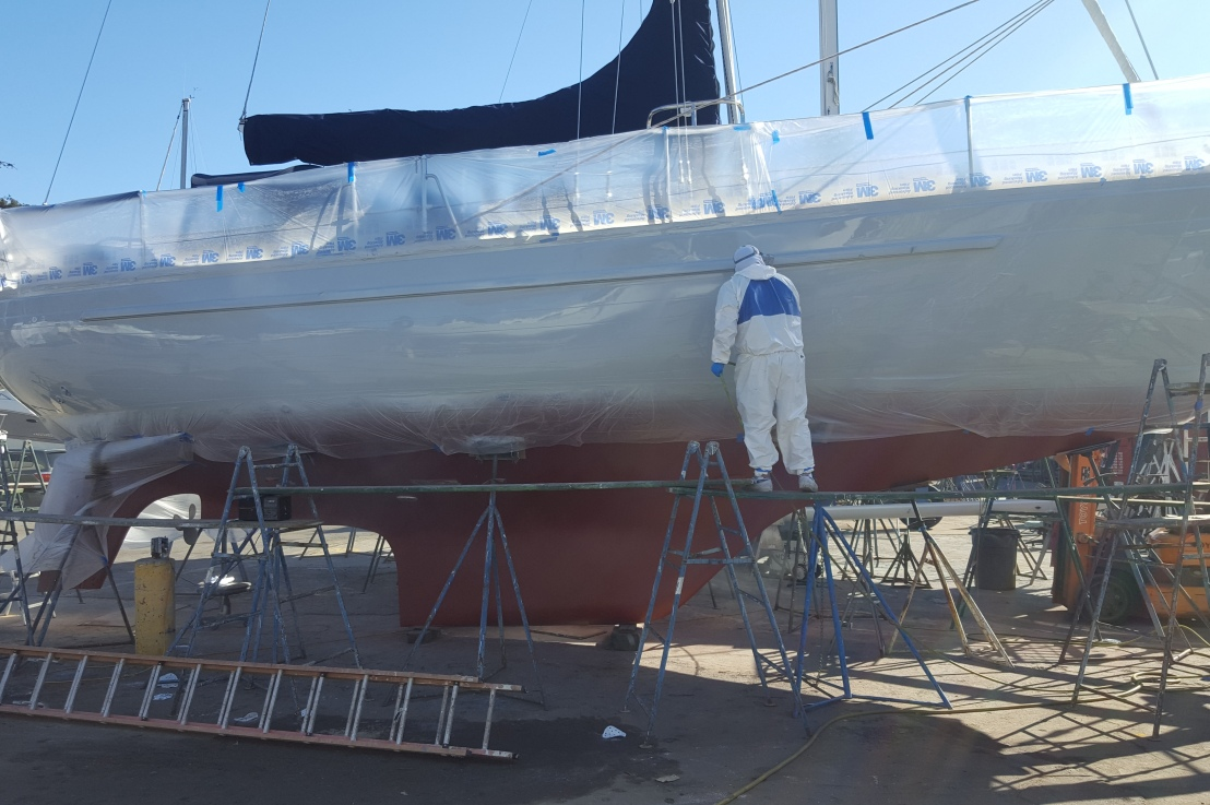 Bottom Paint, Through-hulls, Transducers and Topside Paint Job