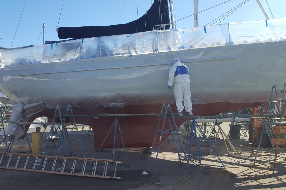 Bottom Paint, Through-hulls, Transducers and Topside PaintJob