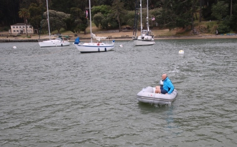 First time out in the dinghy!