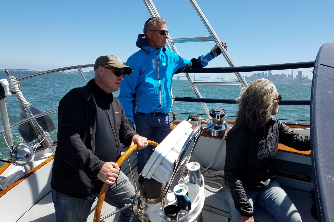 Easter Sailing with Liz and Scott